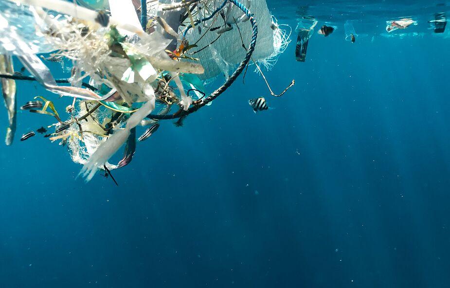 Ocean zanieczyszczony cząstkami farb