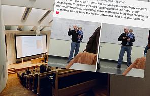 """Profesor podczas wykładu wziął na ręce płaczące dziecko. """"To było coś spontanicznego"""""""