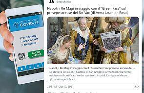 W szopce w Neapolu Trzej Królowie z przepustką COVID-19