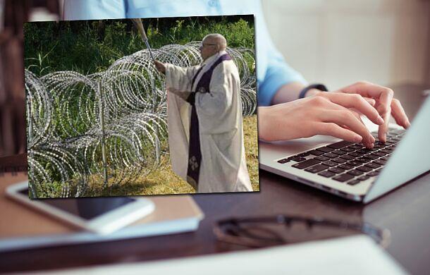 W sieci krąży fałszywe zdjęcie księdza na granicy polsko-białoruskiej