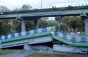 Koszalin: wiadukt zawalił się na drogę. Przejeżdżały pod nim auta