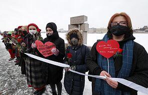 Akcja solidarności z Julią Nawalną w centrum Moskwy