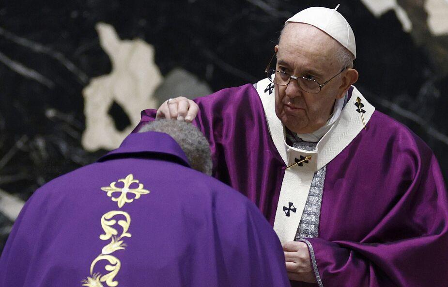 Papież w Środę Popielcową: powróćmy do Boga