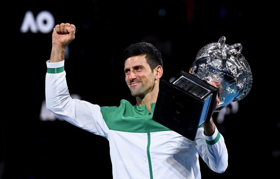Novak Djokovic po raz dziewiąty wygrał wielkoszlemowy turniej Australian Open