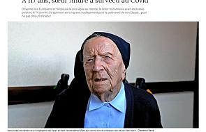 Najstarsza Europejka i zakonnica na świecie przeżyła Covid
