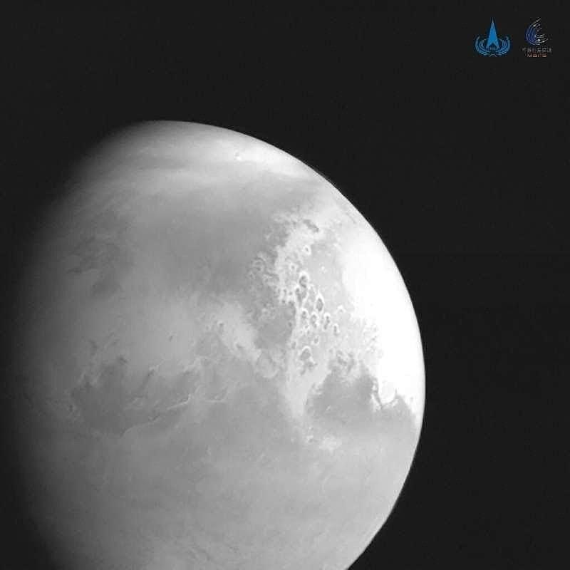 fot. zdjęcie Marsa wykonane przez sondę Tianwen 1