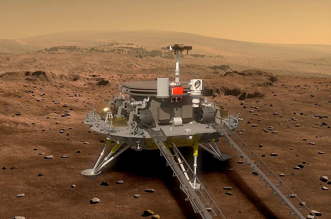 chińska sonda Tianwen 1 / fot. materiały prasowe