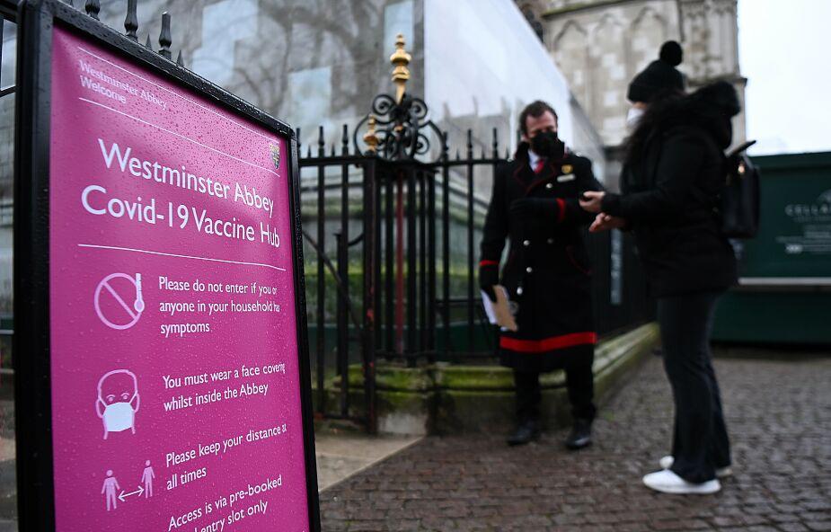 Anglia: nowy punkt szczepień w Opactwie Westminsterskim