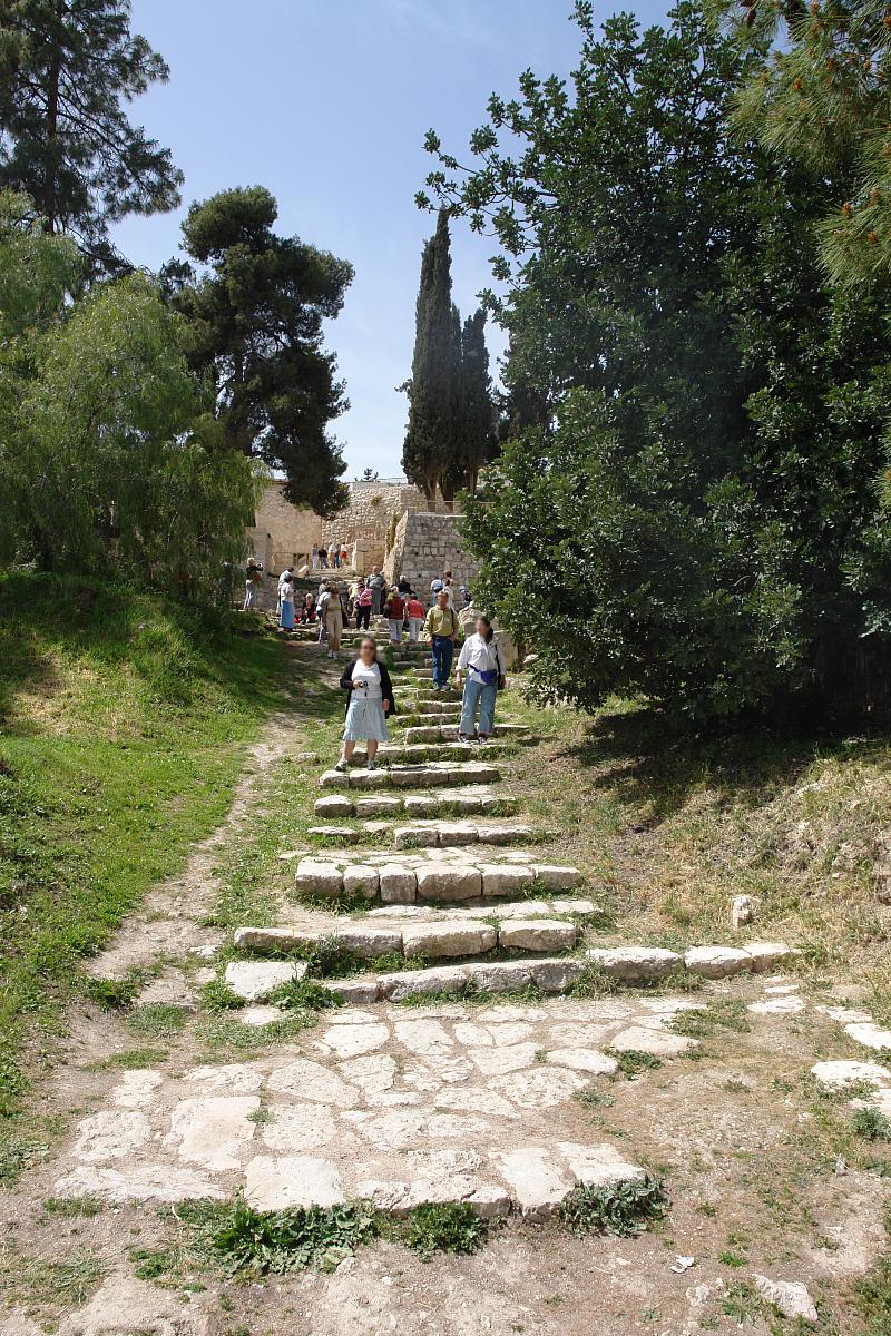 Schody, po których Jezus był prowadzony na dziedziniec Arcykapłana