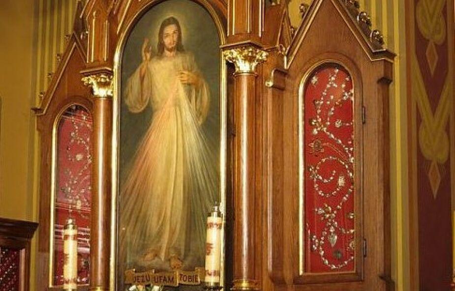 """Znak orędzia Miłosierdzia. Obraz """"Jezu, ufam Tobie"""""""