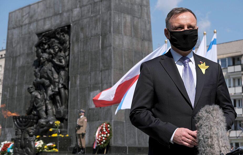 Andrzej Duda o powstańcach z getta: walczyli bohatersko do samego końca