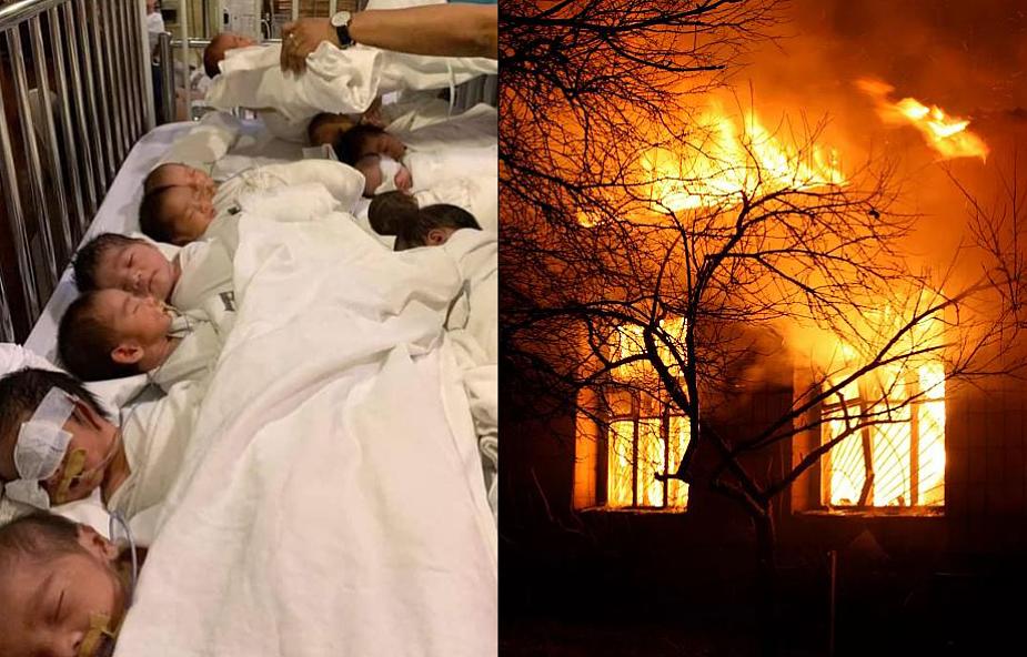 """Jezuici uratowali 35 noworodków z płonącego szpitala. """"Wyciągali niemowlęta pozostawione w gęstym dymie"""""""
