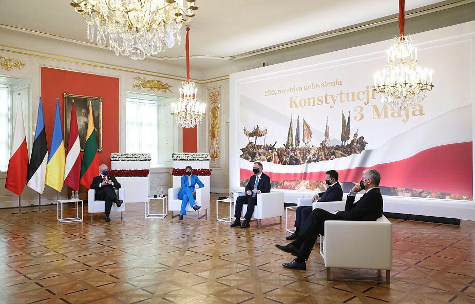 Warszawa. Wspólna deklaracja prezydentów Polski, Litwy, Łotwy, Estonii i Ukrainy