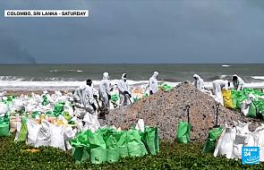 Katastrofa ekologiczna na Sri Lance. Wszystko przez płonący statek [WIDEO]