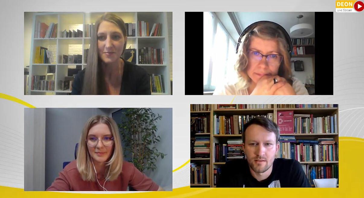 Uczestnicy dyskusji w Deon TV wokół książki