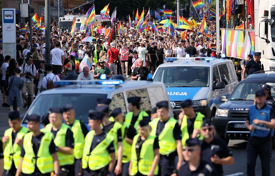 Przez Warszawę przeszła Parada Równości; policja podsumowała wydarzenie