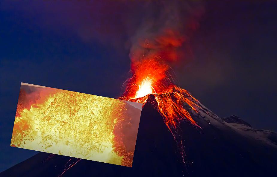 Dron zarejestrował moment, w którym wpada do wulkanu. Niezwykłe ujęcie podbija internet [WIDEO]