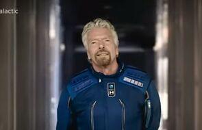 USA. Statek VSS Unity z Richardem Bransonem na pokładzie dotarł do granicy kosmosu