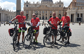 Rowerem z Polski do Rzymu w intencjach ważnych dla Kościoła