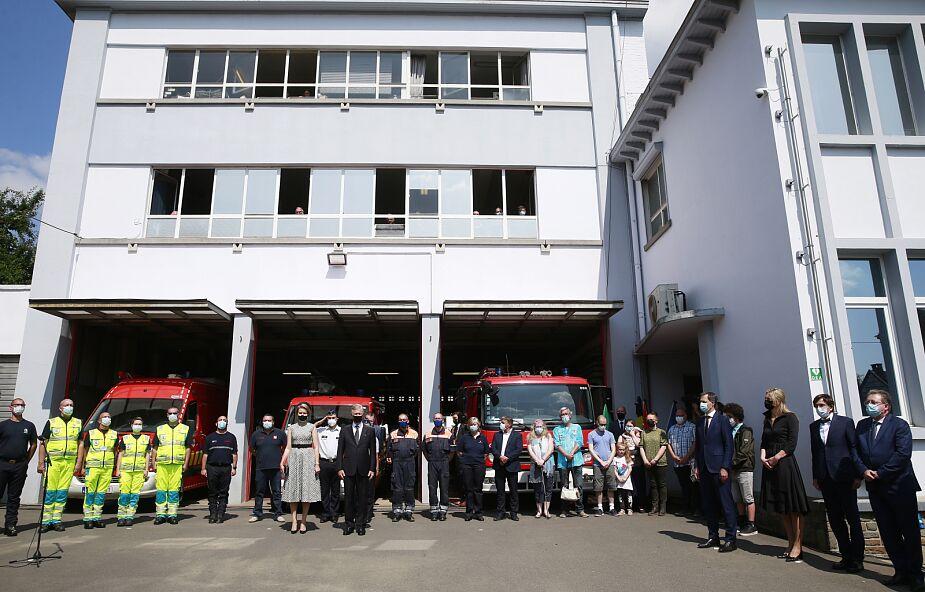 W Belgii dzień żałoby narodowej. Ofiary powodzi uczczono minutą ciszy