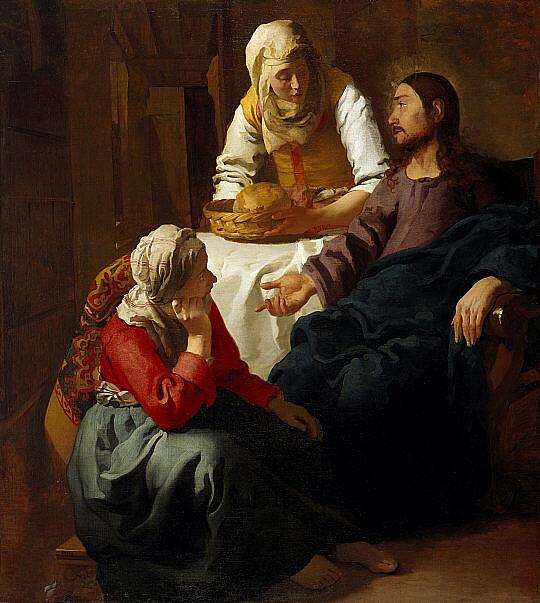 Jezus w domu Marty i Marii - Johannes Vermeer, Public domain, via Wikimedia Commons