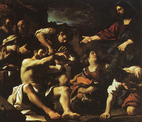 Wskrzeszenie Łazarza - Guercino, Public domain, via Wikimedia Commons