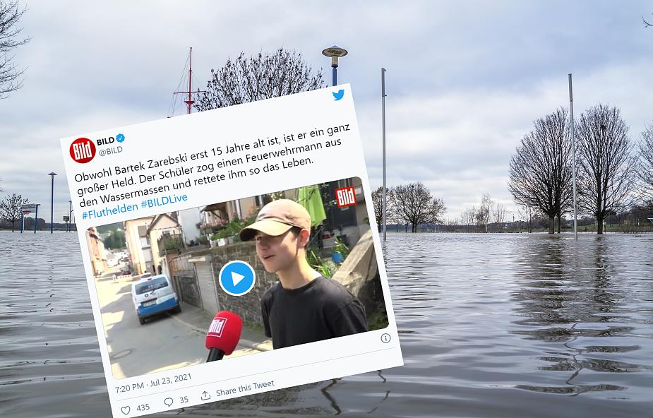 Niemcy. 15-letni Polak uratował tonącego strażaka