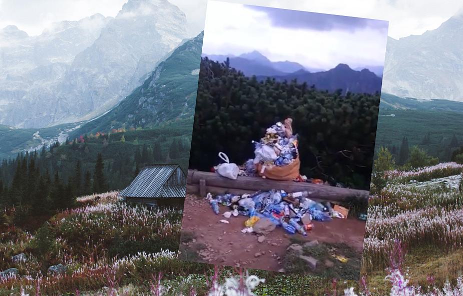 W Tatrach góry śmieci. Turyści zostawiają odpady na szlakach