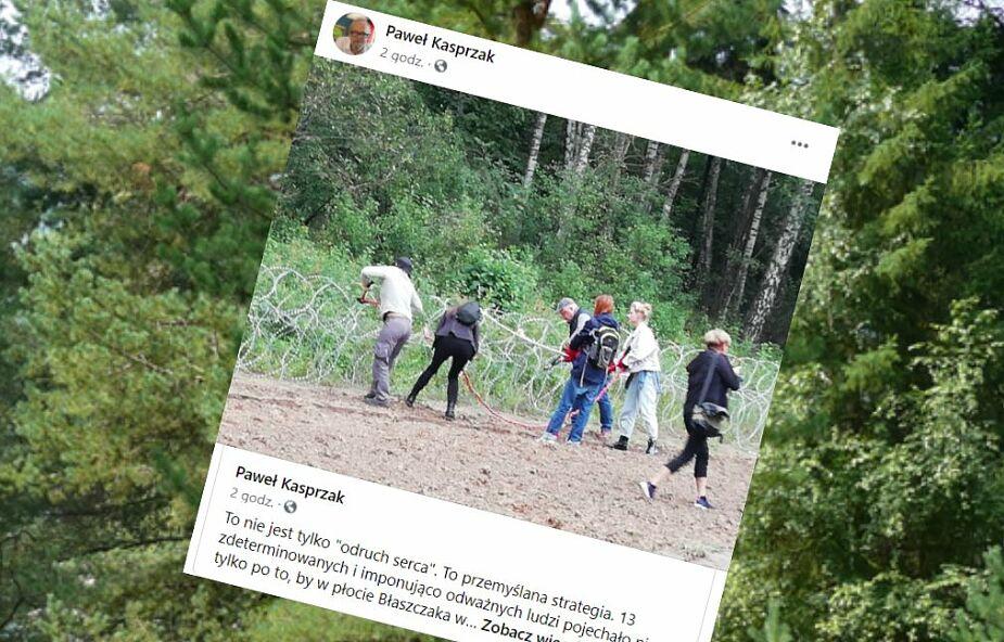 Incydent na granicy z Białorusią: niszczyli ogrodzenie. Zatrzymany m.in. Bartosz Kramek