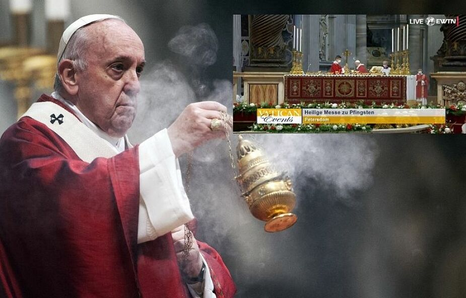 Nad głową papieża pojawiła się aureola. Nagranie z Mszy stało się hitem