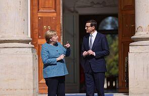 Premier Morawiecki spotkał się w Warszawie z kanclerz Merkel