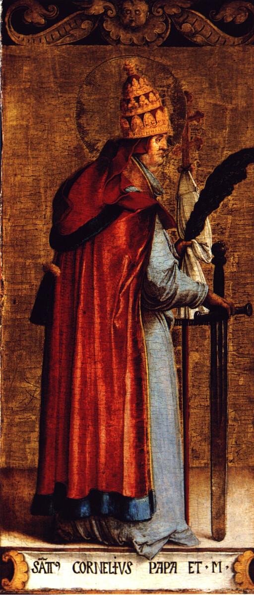 Św. Korneliusz - Master of Messkirch, Public domain, via Wikimedia Commons