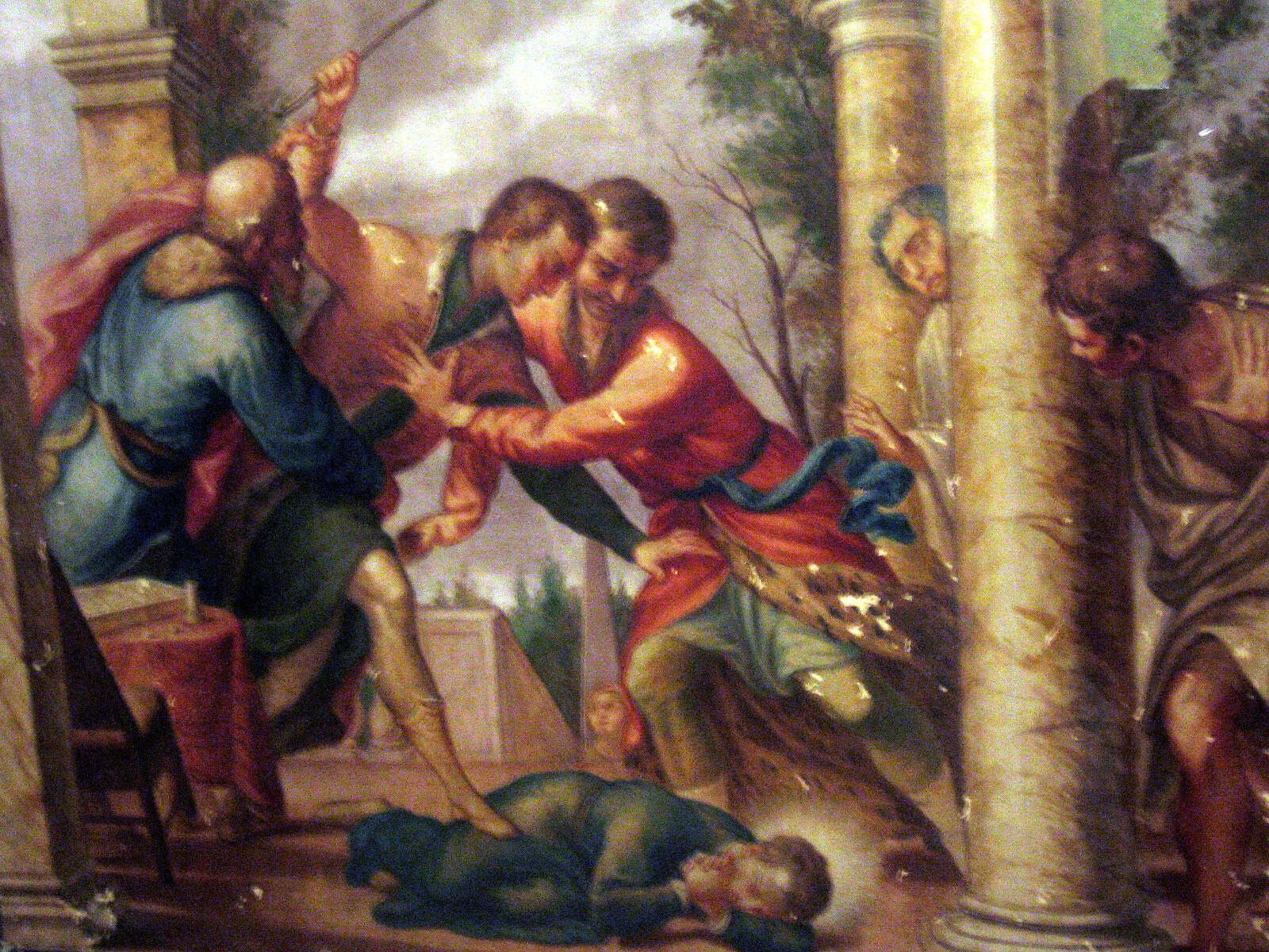 Św. Stanisław Kostka bity przez brata - Anthony M. from Rome, Italy, CC BY 2.0 www.creativecommons.org