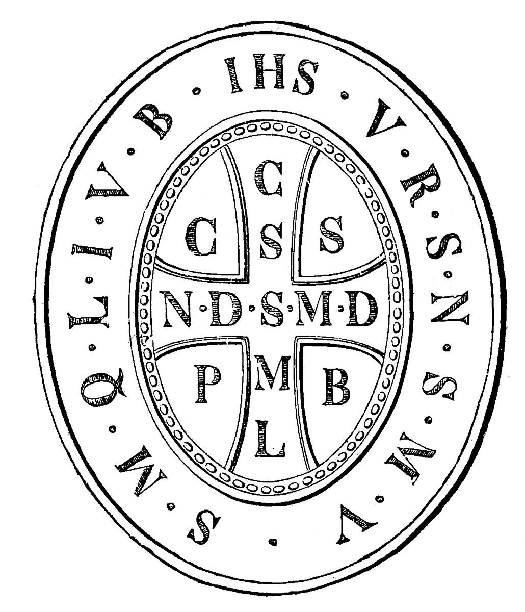 Medalik św. Benedykta - rewers