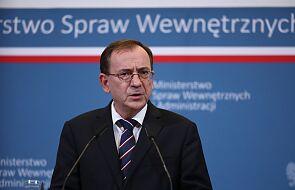 Szef MSWiA: nasze działania skutecznie ustabilizują sytuację na granicy z Białorusią