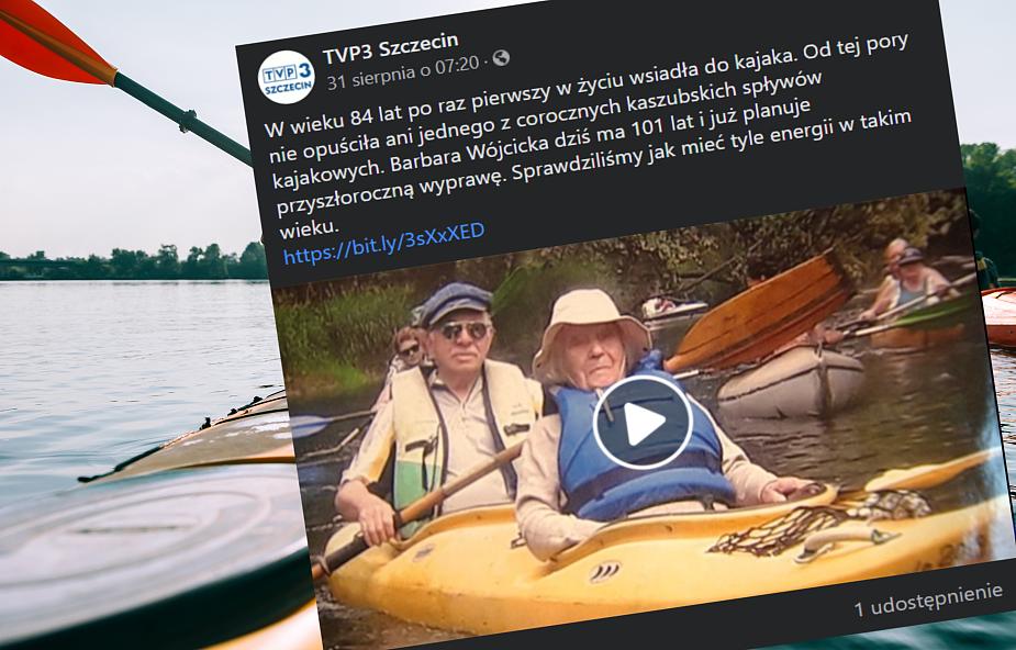 W wieku 101 lat pływa kajakiem i nie powiedziała ostatniego słowa