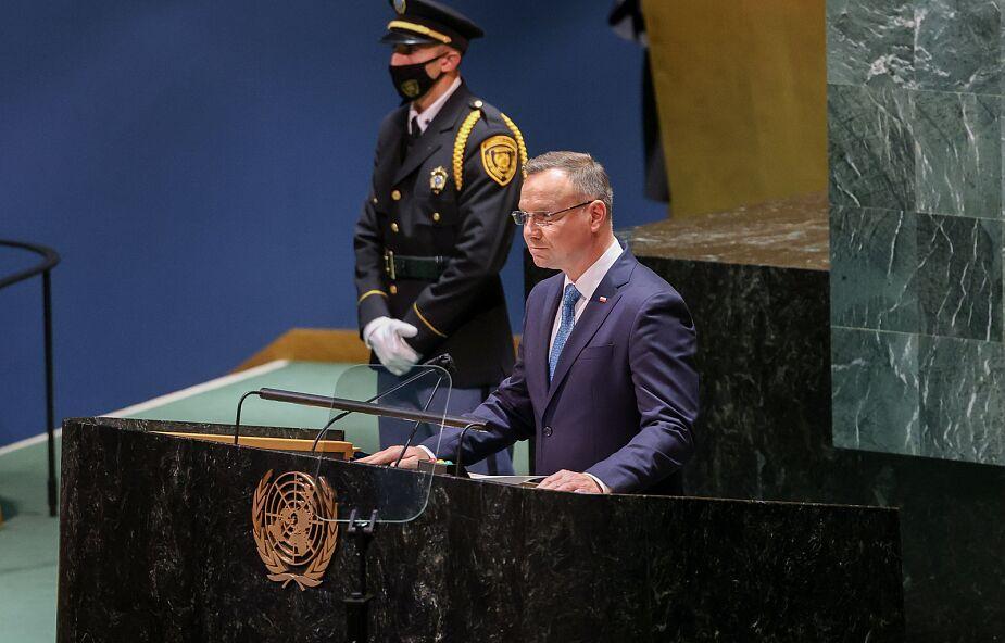 ONZ. Prezydent Duda oskarżył Białoruś o atak hybrydowy
