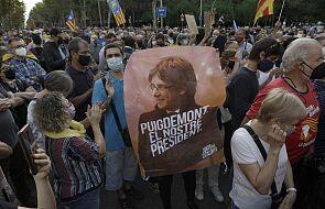 Hiszpania: protesty w Barcelonie po zatrzymaniu byłego premiera Katalonii