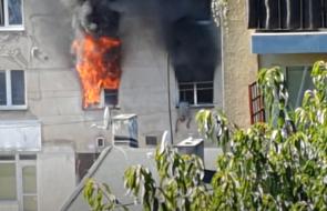 Łódź: mężczyzna wyskoczył z okna płonącego mieszkania