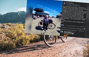 70-latek spełnił marzenie. Wszedł na Śnieżkę, ale... z rowerem