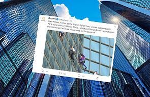 """""""Francuski Spider-Man"""" i Polak wspięli się na wieżowiec w Paryżu. Protestowali przeciw przepustkom COVID-19"""