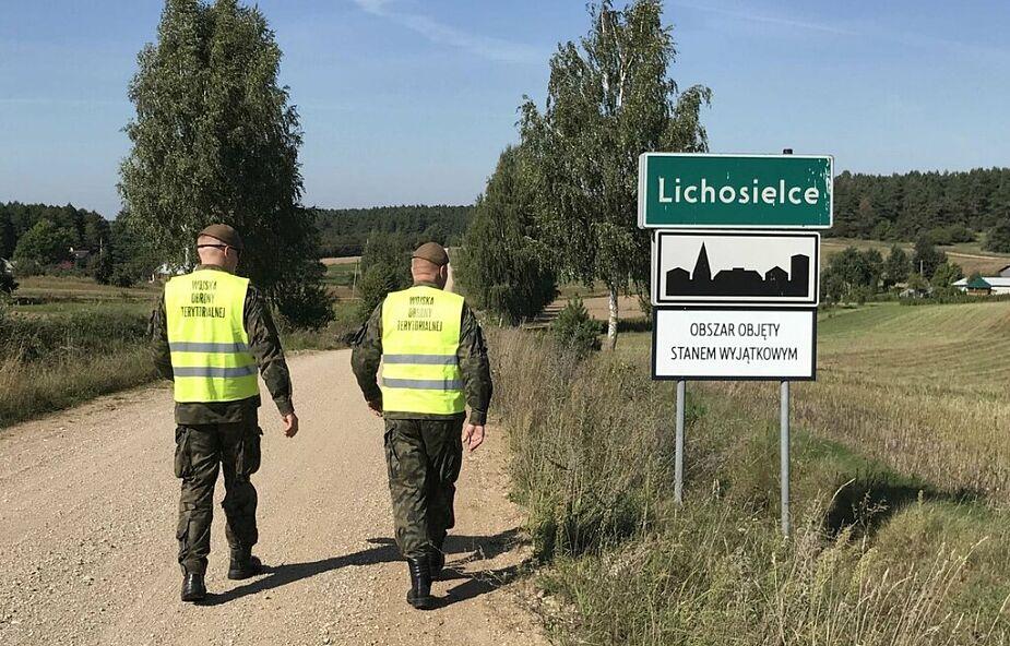 Wojska Obrony Terytorialnej w gotowości przy granicy z Białorusią